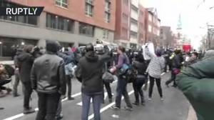 تظاهرات و شغب في واشنطن عقب تنصيب ترامب