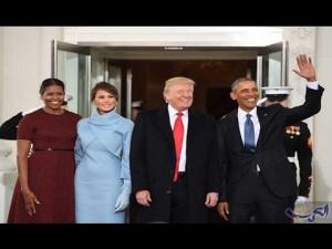 ترامب أثناء حفل تنصيبه رئيسا لأمريكا