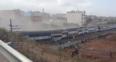 في حصيلة أولية ..خمسة قتلى وعشرات الجرحى في انحراف قطار عن سكته ببوقنادل
